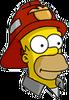 Fireman Homer Icon