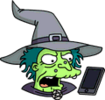 Witch Phone Angry Icon