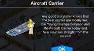 Aircraft Carrier notification