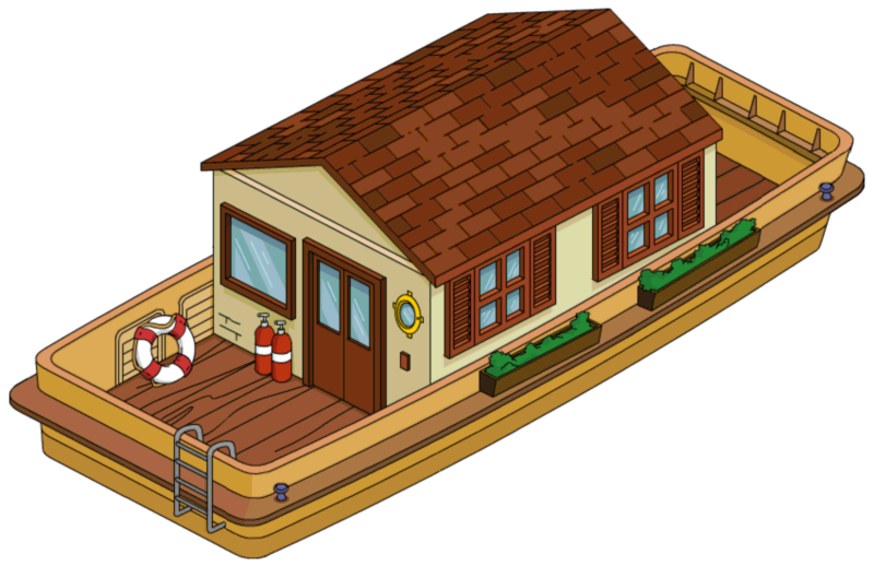 Types Of Boats For Kids >> Houseboat   The Simpsons: Tapped Out Wiki   FANDOM powered by Wikia