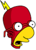 Radioactive Milhouse Surprised Icon