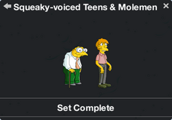 Squeaky-voiced Teens & Molemen Character Collection