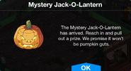 Mystery Jack-O-Lantern notification