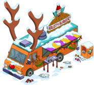 Reindeer Burger Truck 03 Flipped Snow Menu