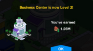 Business Center Level 2 Upgrade Screen