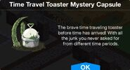 Time Travel Toaster Mystery Capsule notification