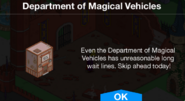 Department of Magical Vehicles notification