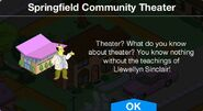 Springfield Community Theater notification