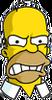Homer Angry Facing Camera Icon