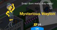 Mysterious Waylon Unlock Screen