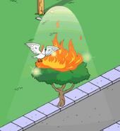 God Appearing in a Burning Bush