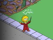 Wizard Lisa Practicing Spells