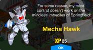 Mecha Hawk Unlock Screen