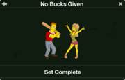 No Bucks Given character collection