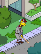 Softball Mr Burns Practicing Swinging