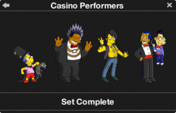 Casino Performers Character Collection