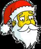 Santa Claus Sad Icon