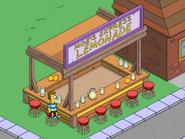 Baby Homer Dwinking Lemonade at Moe's