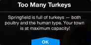 Too Many Turkeys Message