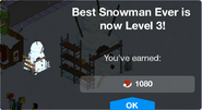 Best Snowman Ever Level 3 Upgrade Screen