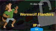 Werewolf Flanders's unlock screen