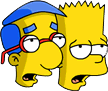 Bart and Milhouse Groan Icon