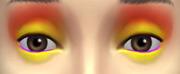 YfMakeupEyeshadow ThreeToneWild YellowRed