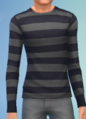 YmTop SweaterCrewBasicStripes StripesBlackGray.png