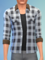 YmTop ShirtFlannelRolled SolidWhite.png