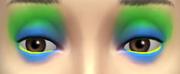 YfMakeupEyeshadow ThreeToneWild BlueGreen