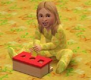 Эми играется с кубиками