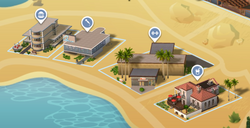 Oasis Springs Commercieel District Kaart