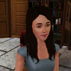 Christina Im in the Library (The Sims 3)