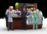 Les Sims 4 Au travail Render 1