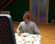 Harold eating