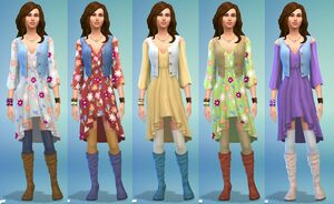 Les Sims 4 Jour de lessive - Style de vêtements
