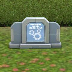 La lápidad de un Plumbot.