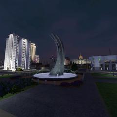 Centro de la ciudad, de noche