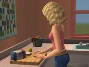 Jessica fait la cuisine