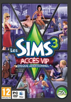 Jaquette Les Sims 3 Accès VIP