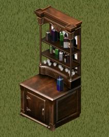 LS1 Gabinete de bebidas Bar Antiguo