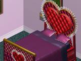Cama de corazón