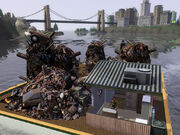 Island paradise trash barge