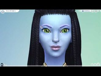 Neytiri-Avatar Sims 4 CAS