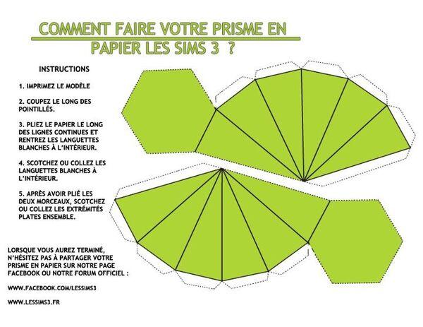 Prisme Les Sims 3 en papier