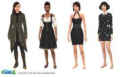 Les Sims 4 Monde magique Concept 01