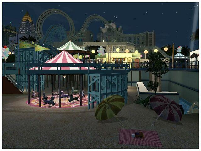 File:Roller coaster in Roaring Heights.jpg
