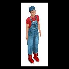 Lolo Clavel de niño en Los Sims.