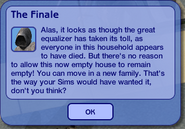 The Sims 2 The Finale Message
