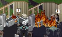Смерть от огня — The Sims
